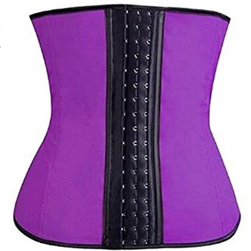 NINGMI Rubber Body shaper for women sexy Shapewear Waist Trainer Cincher latex Shaper Burning Slimming waist Belt Corset Bustier
