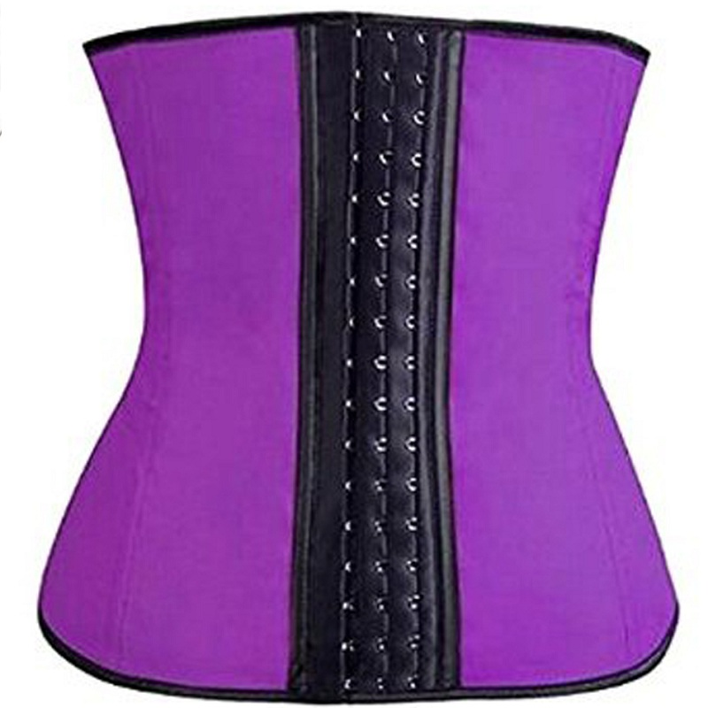 NINGMI Rubber Body shaper for women sexy lady Shapewear Waist Trainer Cincher loseweight Shaper Burning Slim Belt Corset Bustier
