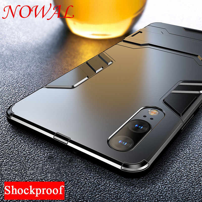Luxury Stand Case For Huawei P20 Lite Mate 10 20 Pro P10 Honor 9 10 8X Y6 Y7 Prime 2018 Y9 2019 Full Coverage Protect Back Cover