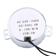 WALFRONT AC Motor 220-240V Synchronous Motor Geared Motor 4W CW/CCW 8-10RPM 50/60Hz Permanent Magnet Synchronous Motor