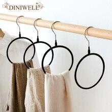 DINIWELL 2Pcs Set PVC Multifunctional Clothes Hanger Silk Scarf Storage Rack Shelf Toroidal