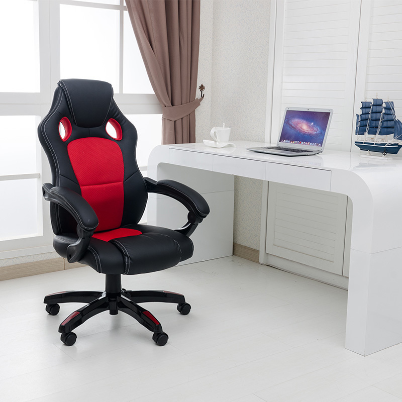 new Computer Chair To Work In An leather Office furniture Competition Game Household Comfortable Can Deck Bow Swivel office furniture game manager household rotate artificial leather chair