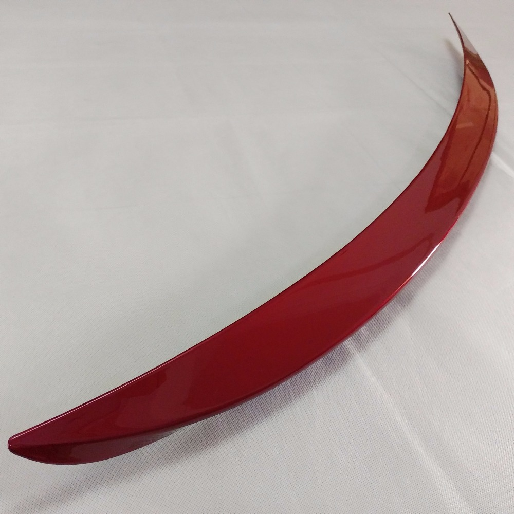1pc ABS Red Tail Rear Trunk Spoiler Wing Decoration Cover For Mazda 6 M6 Atenza 2014