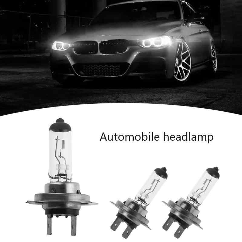 H7 12V araba Styling 55W otomobil halojen lamba araç kuvars tüp far ampulü Voiture far aydınlatma araba aksesuarları