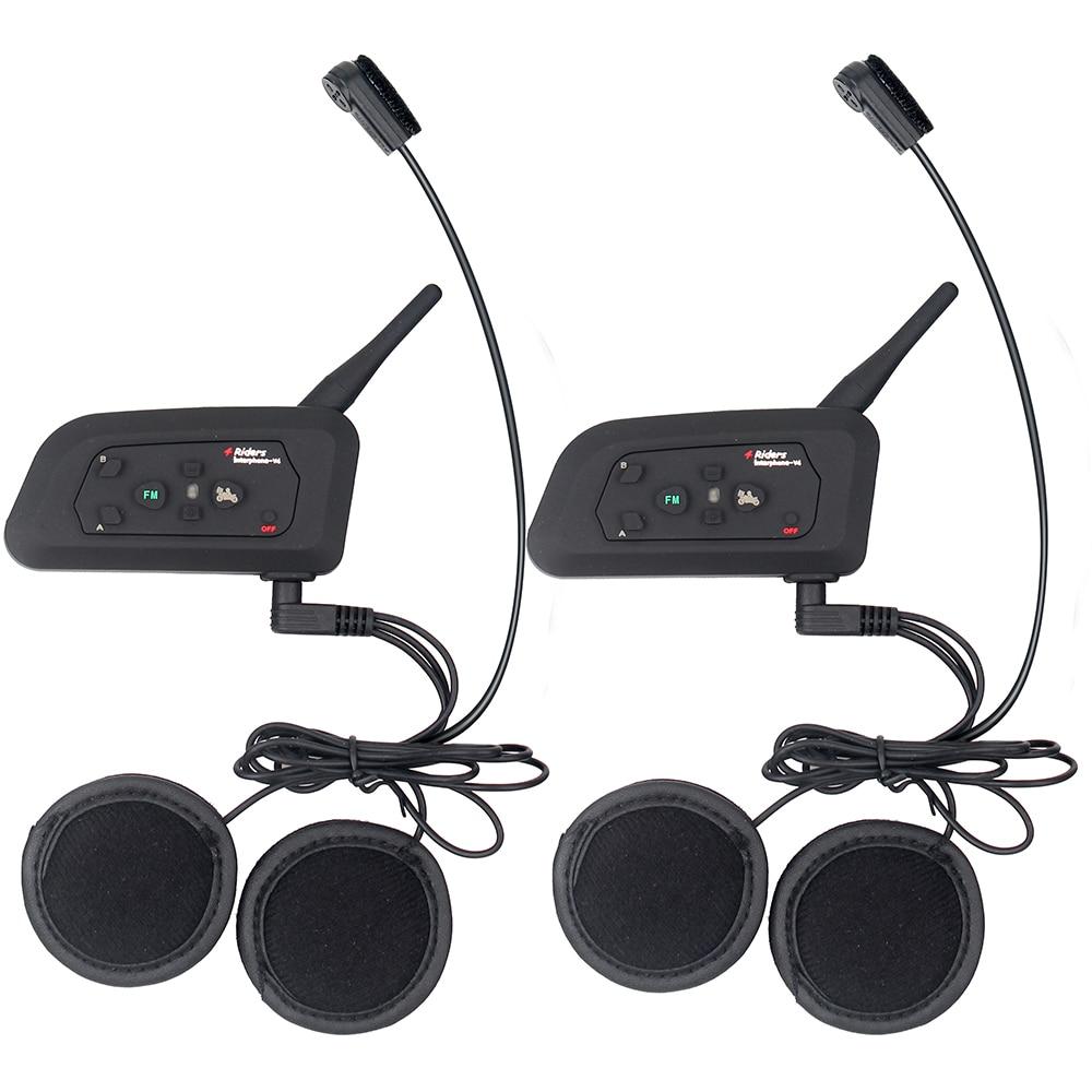 2 հատ Fodsports V4 Motorcycle սաղավարտ Bluetooth Bluetooth - Պարագաներ եւ պահեստամասերի համար մոտոցիկլետների - Լուսանկար 5