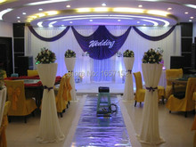 10ft*20ft wedding Party Backdrop Stage Decoration Party Backdrop Stage Backdrop with Detachable Swag