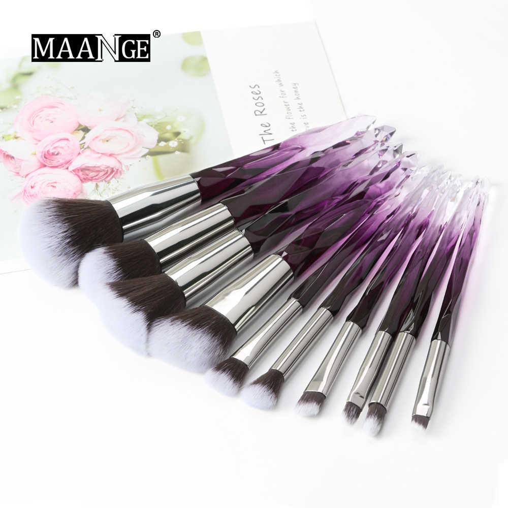 MAANGE nouveau 10 pièces diamant professionnel maquillage brosse ensemble poudre sourcil ombre à paupières lèvre Blush brillant beauté maquillage pinceaux Kits