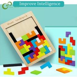 Tangram-rompecabezas de madera de colores para niños, juguete educativo de madera de colores con diseño de Tangram, Ideal para chicos