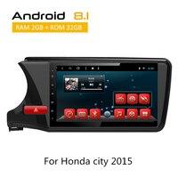 2 Din Авто Радио для Honda City 2015 2016 2017 gps навигация с 10,1 дюймовым экраном Android система Deckless 3g Wifi Bluetooth