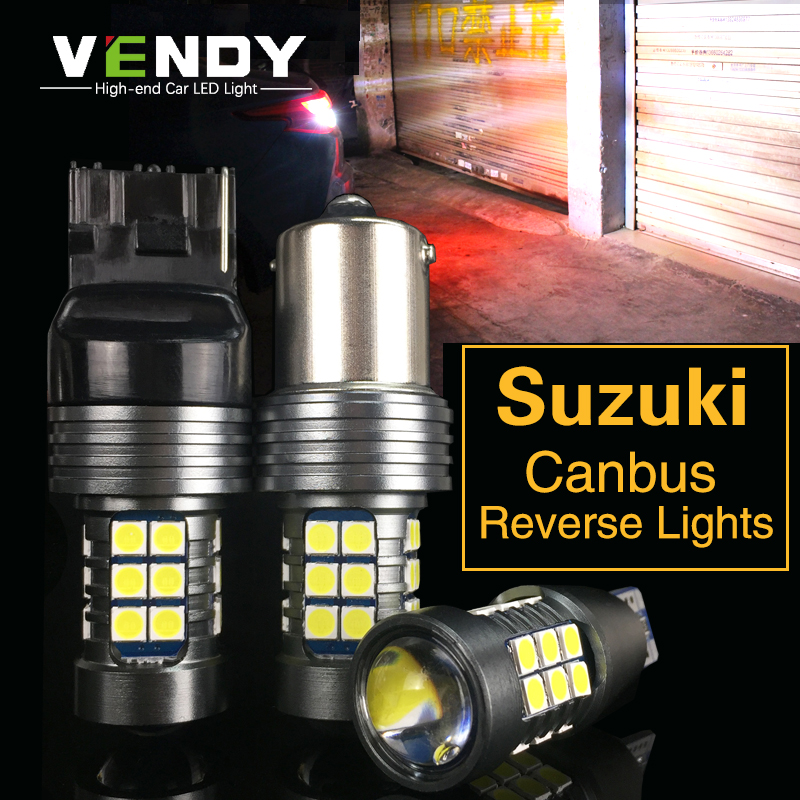 2x W16W T15 W21W BA15S P21W Canbus LED Backup Lights Bulbs For Suzuki Swift Vitara SX4 Kizashi Wagon Jimny Grand Vitara