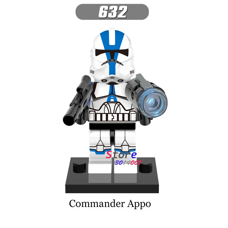 1Pcs Star wars Darth Vader Han Solo R2-D2 BB-8 clone trooper Stormtrooper Ewok action figure building blocks toys for children