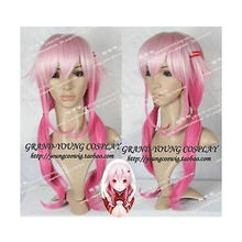 Wholesale heat resistant LY free shipping Guilty Crown INORI YUZURIHA NEW Beautiful Long Pink Gradient Cosplay