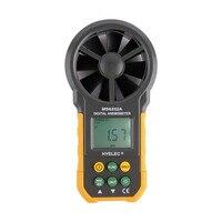1 stks Hot LCD Digitale Anemometer Windsnelheid Luchtstroom Tester Backlight HYELEC Groothandel