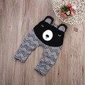 Calças meninos Ursos Crianças Harem Pants Para Meninas Menino 2016 Nova Moda Criança Criança Calças Roupas de Bebê