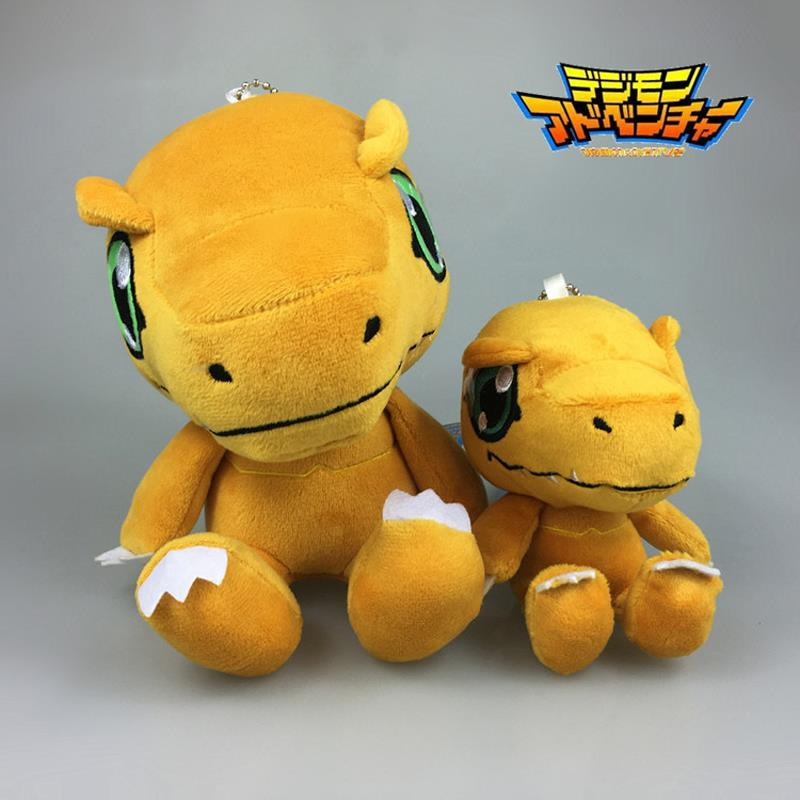 2pcs/lot Anime Digimon Adventure Agumon Plush Toy Dolls