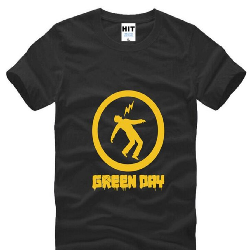 Rock Band Green Day Printed T Shirts Männer Kurzarm O Neck baumwolle...
