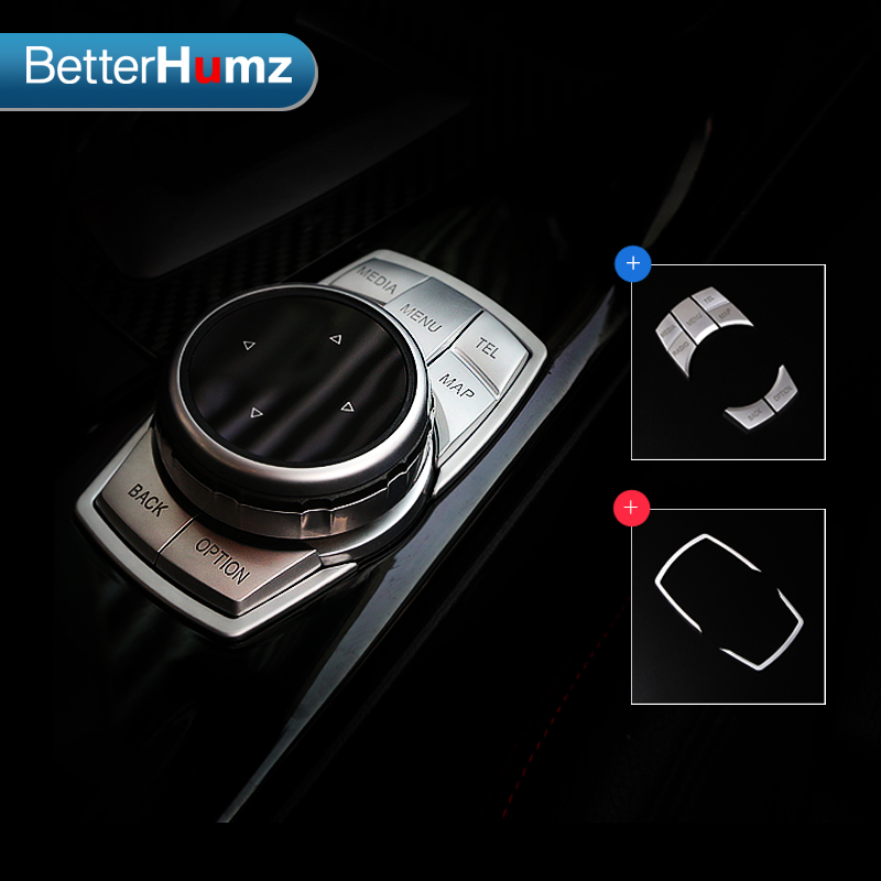 Multimedia Buttons Cover Sticker For BMW F30 F10 F20 F25 F07 X1 X3 X5 X6 3 Series Car Interior Multimedia Knob Frame Decoration