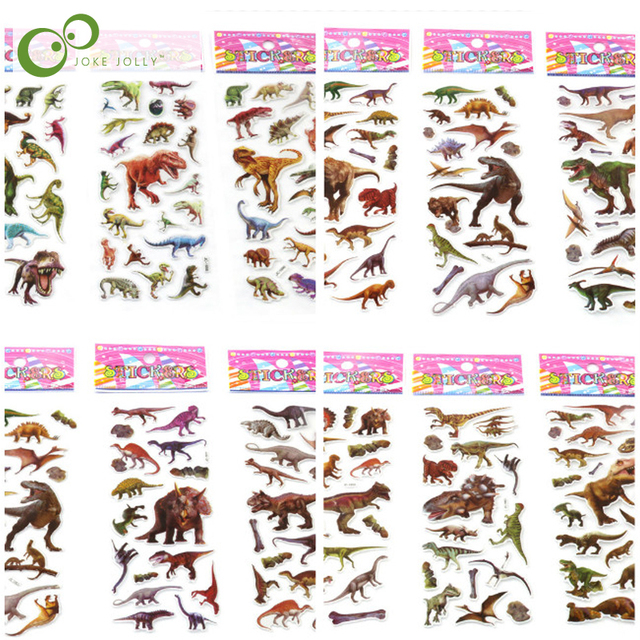 20 pcs ילדים בועה נפוח מדבקות דינוזאורים היורה Scrapbook אלבום תמונות קישוט גמול עבור מורה צעצועים לילדים GYH