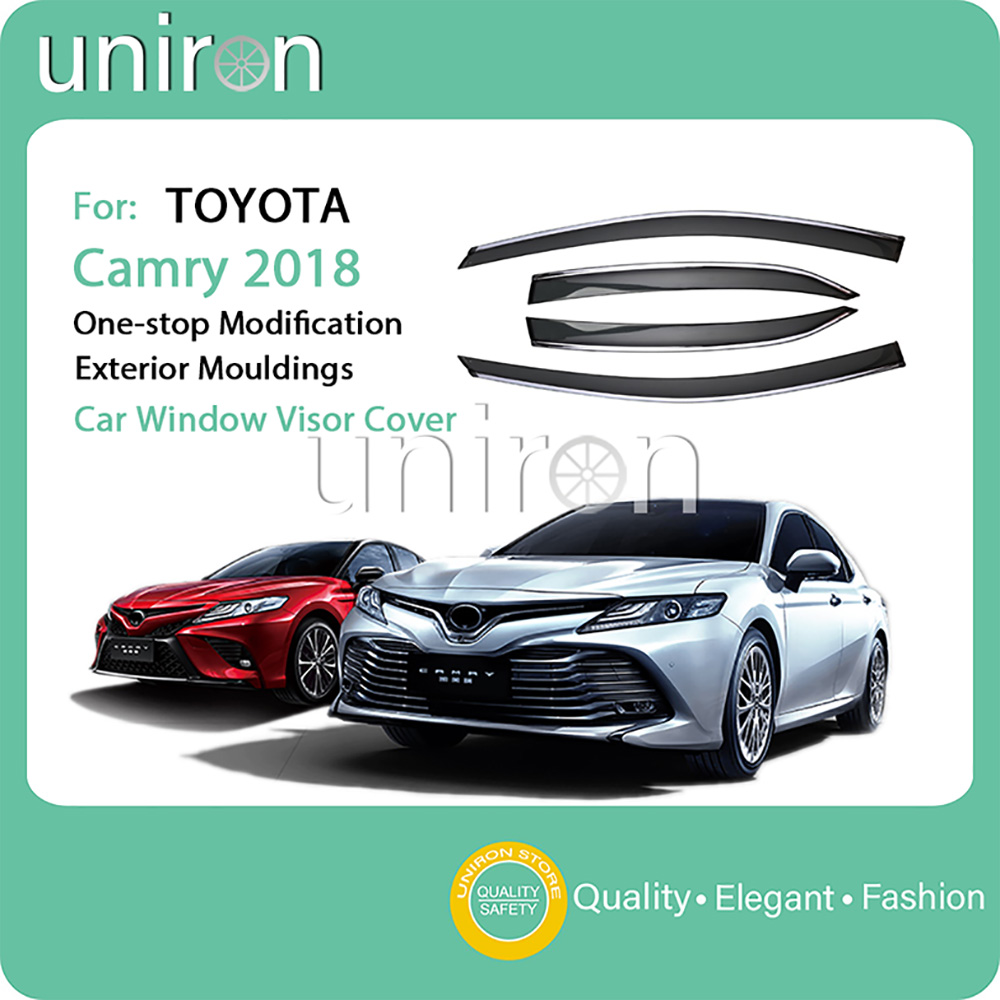 Automobiles & Motorcycles Roof Racks & Boxes Fine Abs Chrome Plastic Exterior Side Door Body Molding Cover Trim Decoration 4pcs For Toyota Camry Xv70 2018 2019