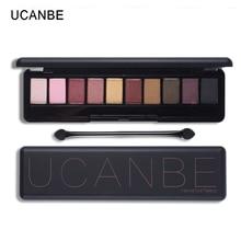 UCANBE Brand Make Up 10 Warm Colors Matte&Glitter Eyeshadow Palette Natural  Naked Makeup Set Daily Elegant Lasting Elegant Look
