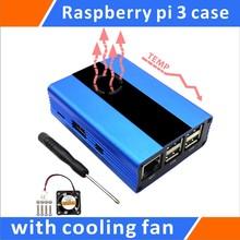 Big discount Raspberry Pi 3,Pi 2, B+ Aluminum Case With Fan(Blue)