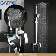 GAPPO bathroom white shower faucet mixer taps Rainfall Bathtub head bath set