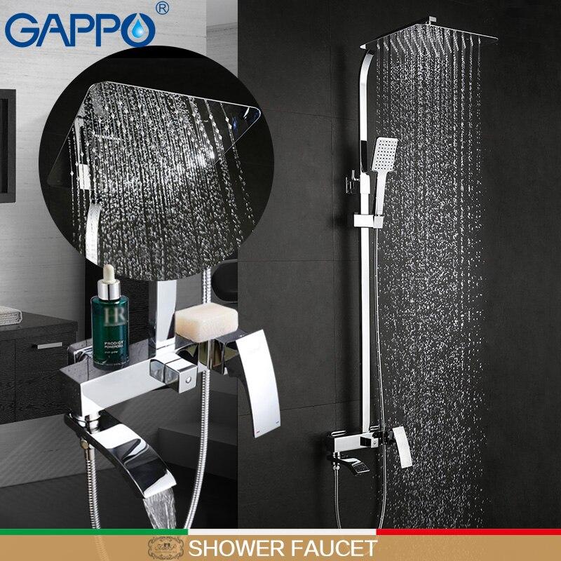 GAPPO branco banheiro chuveiro torneira do chuveiro torneira da Banheira torneiras misturadoras Chuvas cabeça de chuveiro banho de chuveiro misturador torneira do banheiro