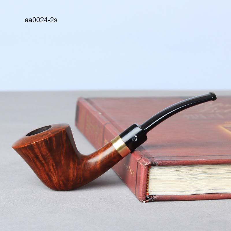 NewBee 10 Tools Kit Briar Holz Gebogen Pfeife mit Dual Silber Ring ...