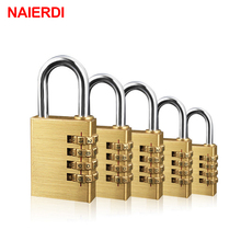 NAIERDI High Security Solid Brass Anti-Drill Lock Digital Combination Password Lock Travel Luggage Code Padlock Suitcase Locks rarelock 5 letters code combination password lock door box gym locks suitcase luggage bicycle locks a