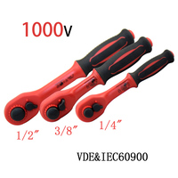 1000V high voltage insulator Insulated Ratchet wrench 1/4 3/8 1/2 IEC60900 VDE certification Insulation spanner insulating tools