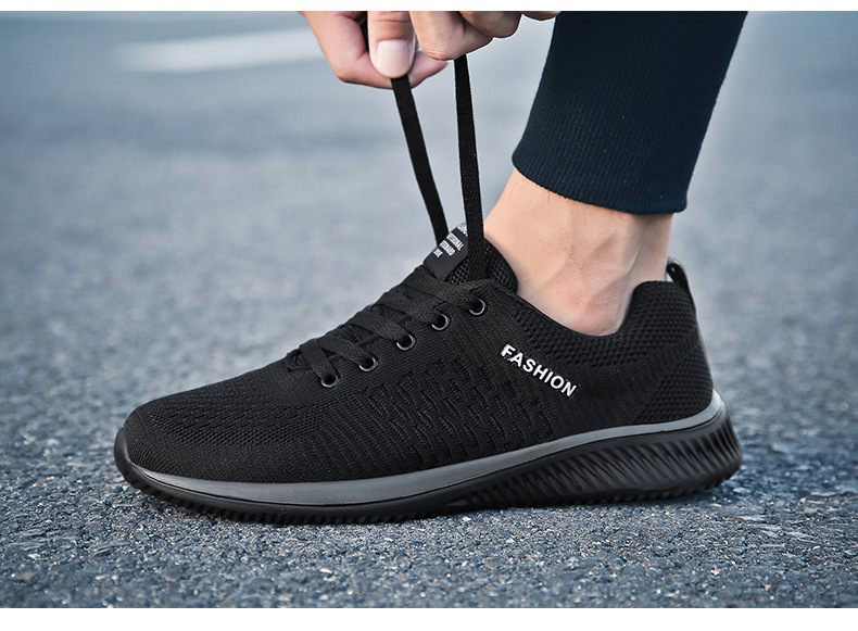 New Mesh Men Casual Shoes Lac up Men Shoes Lightweight Comfortable Breathable  Walking Sneakers