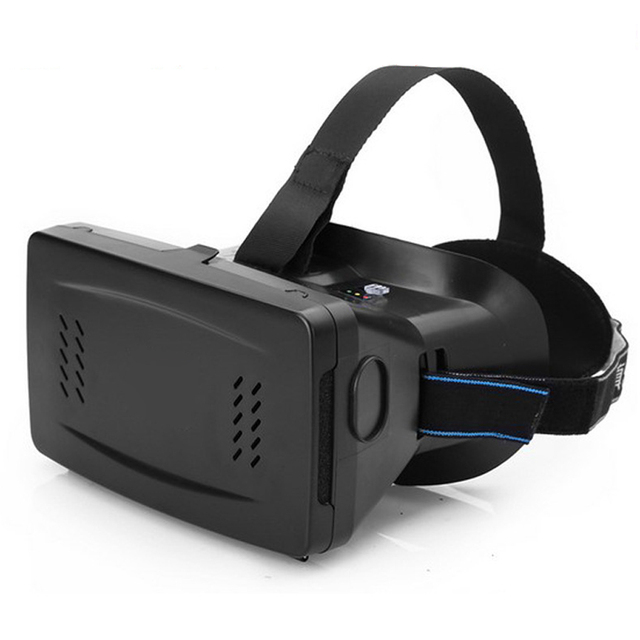 Head Mount Plastic Version 3D VR Virtual Reality Glasses Cardboard Movies Games for Smartphone black