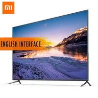 Оригинальный Xiaomi tv 4 55 дюймов 4 K HDR Smart 4,9 мм ультратонкий Телевизор 2 ГБ + 8 Гб английский интерфейс голосовой пульт дистанционного управления