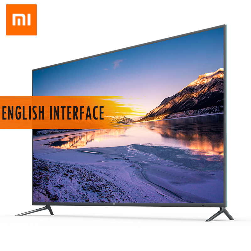 Original Xiaomi TV 4 55 pouces 4 K HDR Smart 4.9mm Ultra-mince TV 2 GB + 8 GB Interface anglaise télécommande vocale prise en charge Dolby DTS