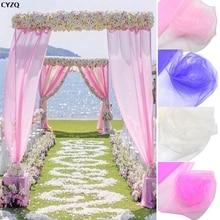 5m/10m 48cm Crystal Tulle Roll Fabric Sheer Organza for Home Wedding Arch Decoration Baby Shower DIY Tutu Shirt Craft