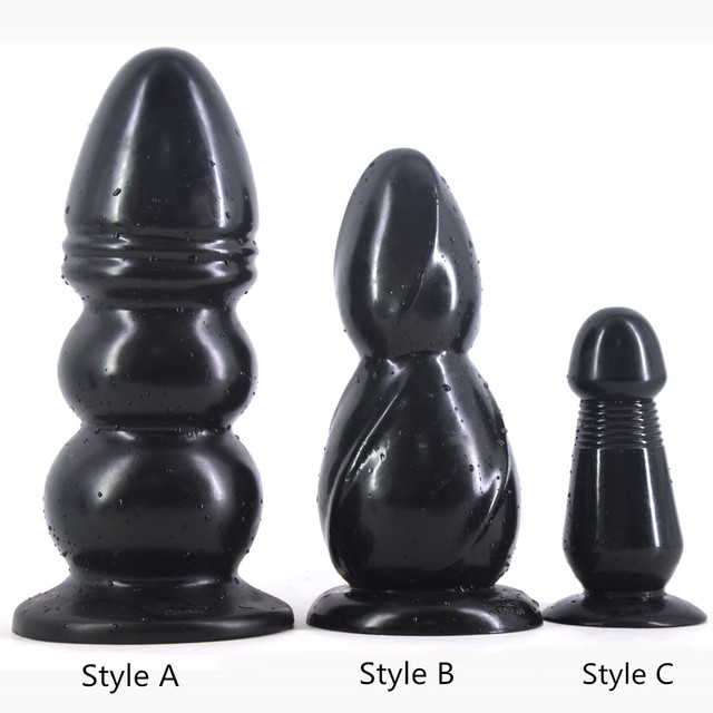 Big anal plug black dildo huge giant butt plug sex toys erotic products couples masturbate flirting toy fake penis sex shop