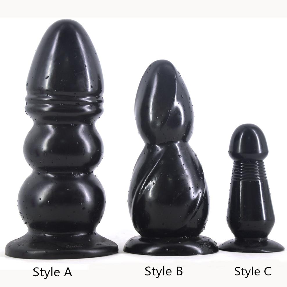 FAAK Big Anal Plug Black Dildo Huge Giant Butt Plug Sex Toys Erotic Products Couples Masturbate Flirt Toy Fake Penis Sex Shop