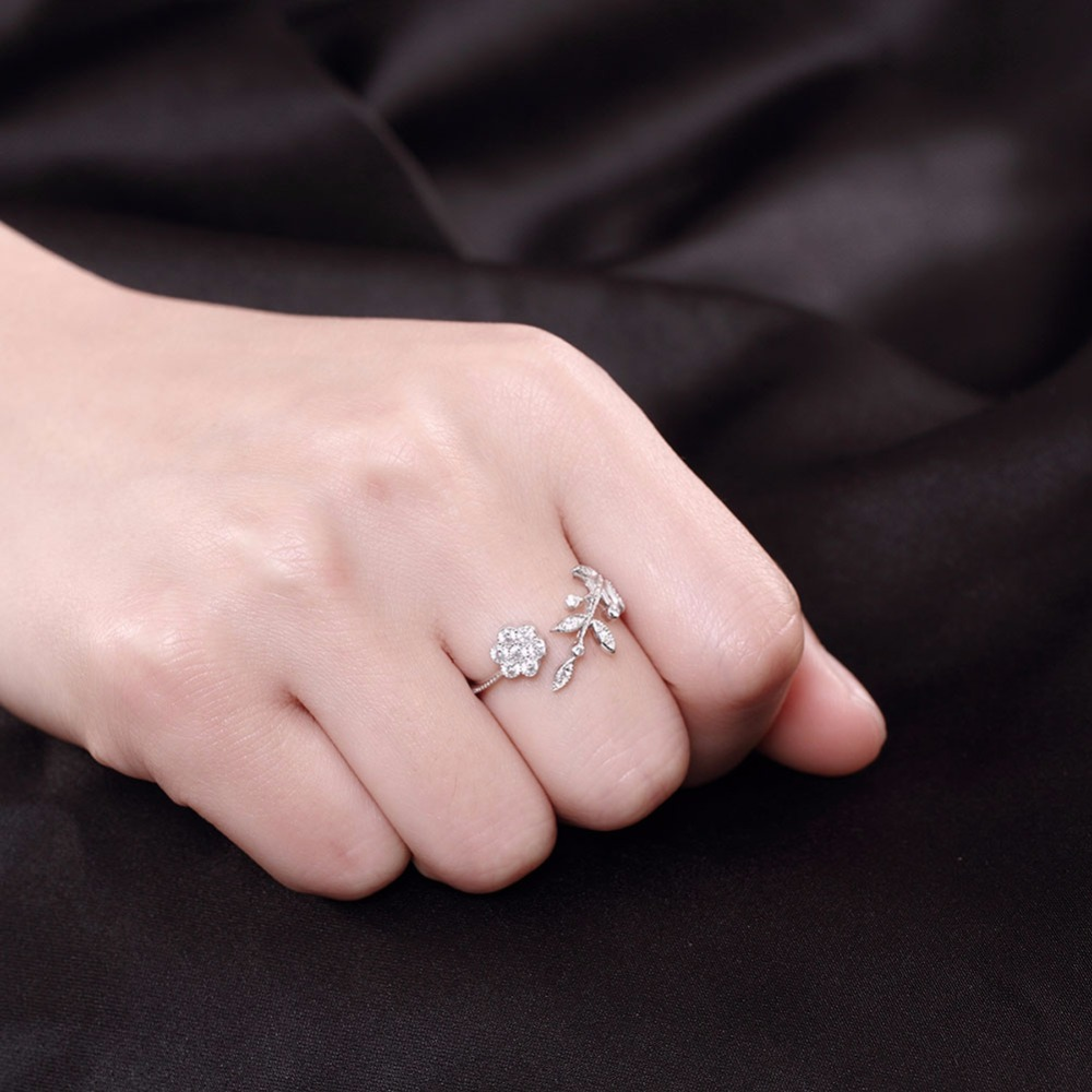 Delicated custome tipo S925 plata anillo de compromiso y boda para ...