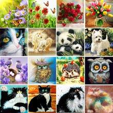 Gümrükleme satış DIY elmas boyama çapraz dikiş mozaik 25 desenler 5D çiçekler & hayvanlar ev dekorasyonu elmas nakış çocuklar hediye(China)