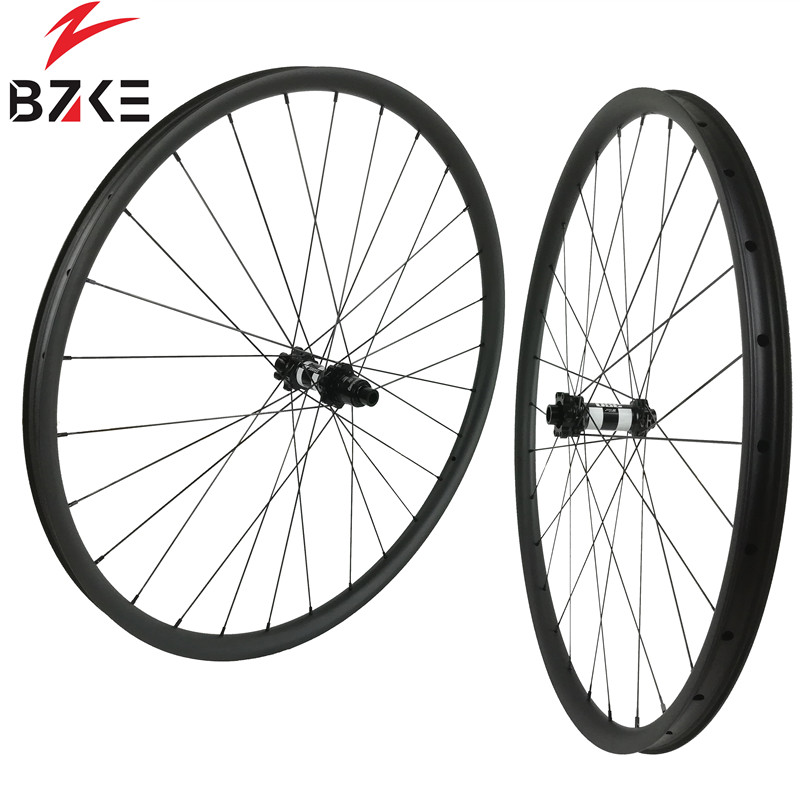 Image 2 - BZKE carbon wheels 30mm width 29 inch carbon mtb bicycle wheelset boost  carbon mtb wheels 29 bike wheelset 350 hubs-in Bicycle Wheel from Sports & Entertainment