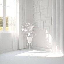 Laeacco Interior Quarto Janela Cortina Branca Adereços Cenários Para Estúdio de Fotografia Fotografia Fundos Fotográficos Personalizados