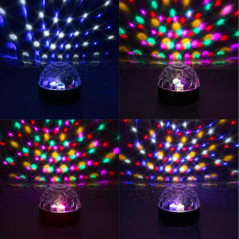 RGB LED Crystal Magic Ball Stage Effect Lighting Lamp Party Strobe effects with colors change plastic with colorful lighting mini rgb led party disco club dj light crystal magic ball effect stage lighting