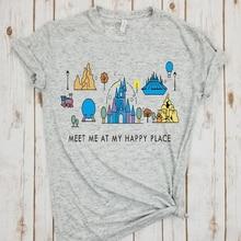 cartoon tshirt happy place shirt animal kingdom tee plus size print tees cartoon girls tops summer 2019 fashion top harajuku girls cartoon print tee