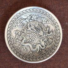China handmade antique Xuan De Tibetan silver dragon Phoenix Brush Washers