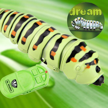 New Arrival Gags Practical Jokes Funny Gadgets Remote Control Bionic Worm Plastic Bromas Toys Magic Bug For Children Fun Toys