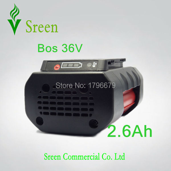 Spare 2600mAh 36V Lithium Ion Rechargeable Power Tool Battery Replacement for Bosch D-70771 BAT810 2 607 336 107 BAT836 BAT840 dvisi 36v 4000mah new rechargeable li ion power tool battery replacement for bosch 36v bat810 bat836 bat840 d 70771 2607336108