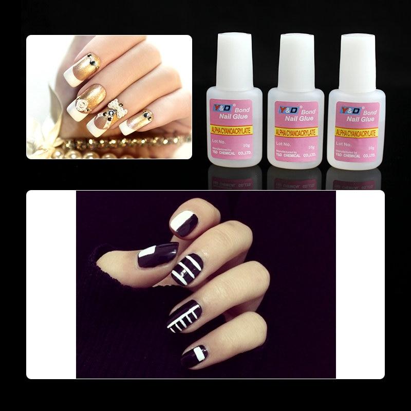 10g*5piece Acrylic Nail Art Glue With Brush For False Nail Tips ...