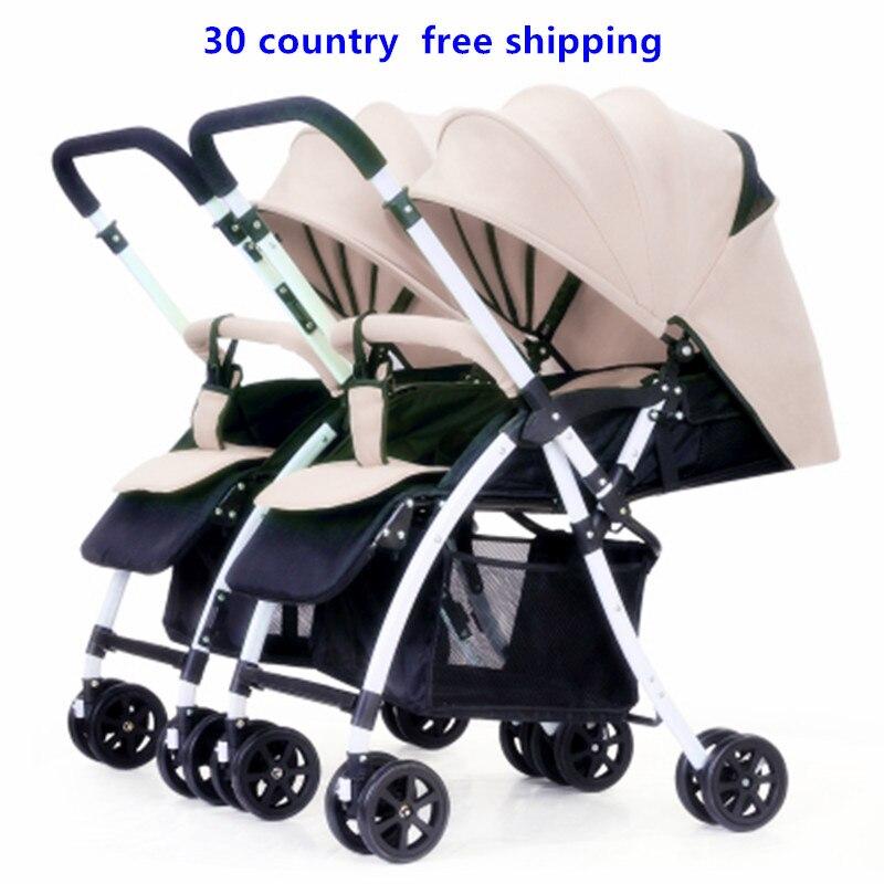 Carrinho de bebê gêmeo dividir em dois sentidos easy fold pode separar a irmã irmão parm stroller carrinho de criança do bebê da criança brinquedo Artefato