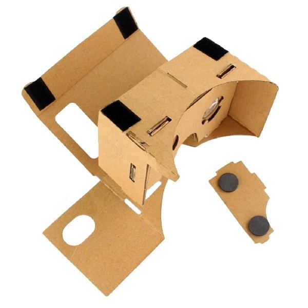 Marsnaska For Google Cardboard VR Box DIY Virtual Reality 3D Glasses Magnet Box Controller 3D  And High Quality