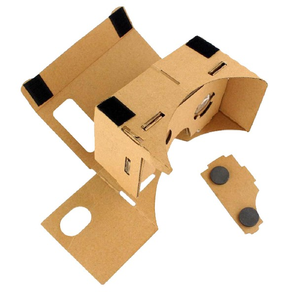 Marsnaska Google Cardboard VR Box DIY Virtual Reality 3D Glasses Magnet Box Controller 3D And High Quality